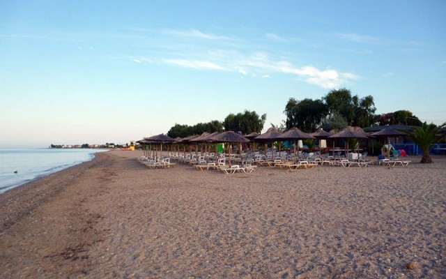 Beach Bar in Paralia Dionisiou Beach, Halkidiki.