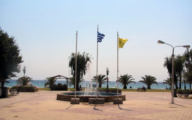 Central Square in Paralia Dionisiou Beach, Halkidiki