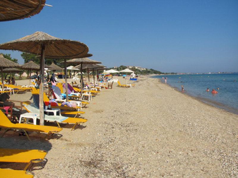 The Sandy Beach In Paralia Dionisiou