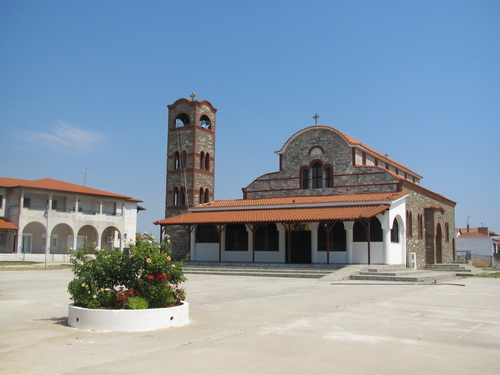 The church in Paralia Dionisiou Beach