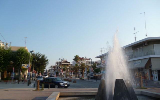 Main square in Nea Moudania.