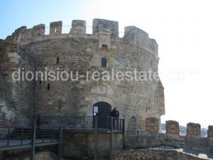 Ano Poli (Upper town) in Thessaloniki. Trigoniou Tower