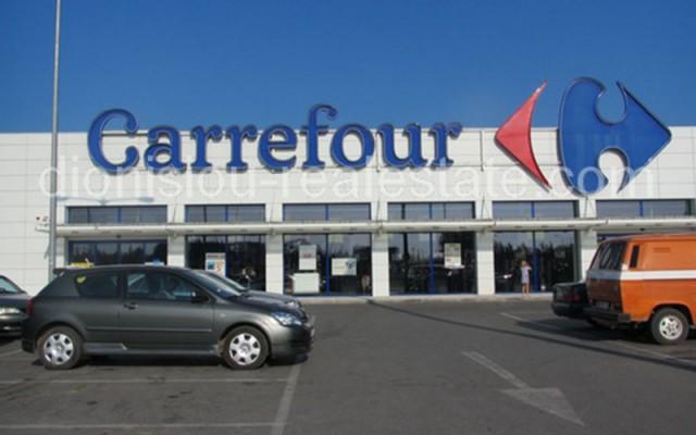 Supermarket Carrefour in Nea Moudania, Halkidiki.