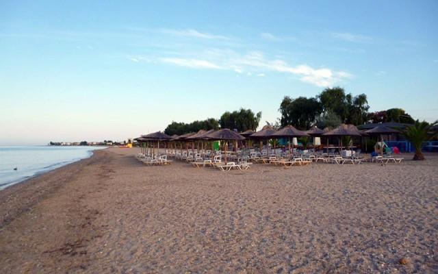 Beach Bar in Paralia Dionisiou Beach, Halkidiki.
