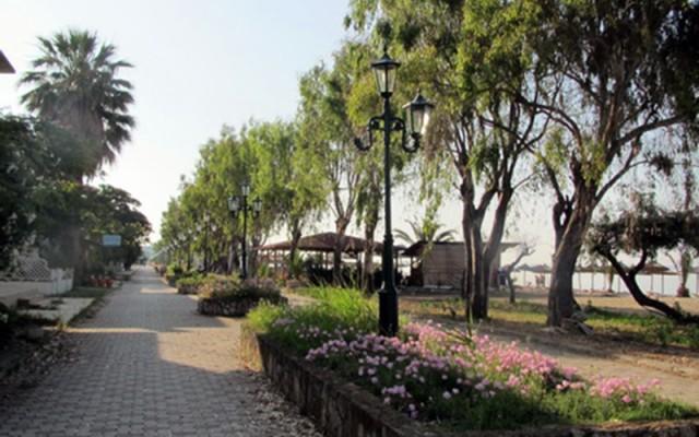 Promenade in Paralia Dionisiou Beach, Halkidiki.