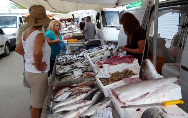Market in Nea Moudania